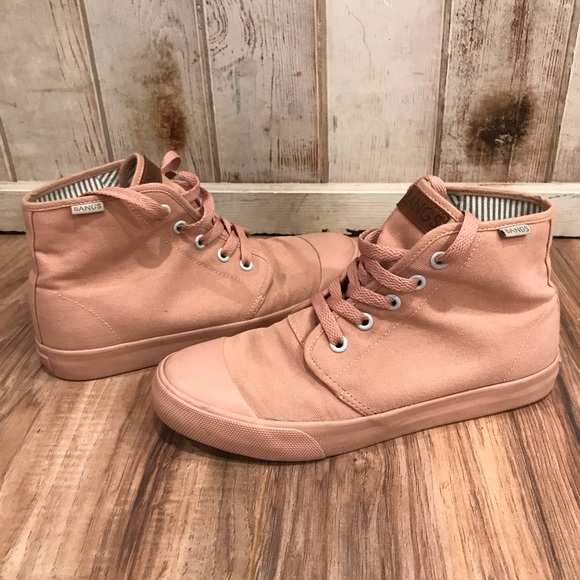 BANGS Shoes   Rose Colored Sneakers
